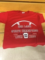 Front of Red Land Little League t-shirts.