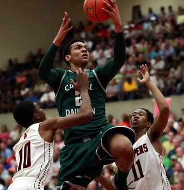 Central Dauphin's Devin Thomas, goes to the basket against Chester, during first half action of the PIAA Class AAAA Eastern Final at the Geigle Complex in Reading Wednesday March 21, 2012. (File photo/PennLive)