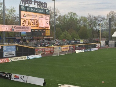 Beyond the rightfield wall at FNB Park, Socceritaville was a popular choice for City Islanders fans at Friday's home opener.