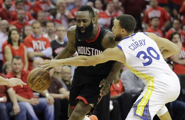 6da5a4fcde99 Harden (13) drives around Curry (30) during the second half of Golden