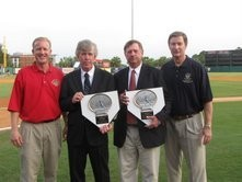 Harrisburg native Tom Burns, second from left, was inducted into the Professional Baseball Scouts Hall of Fame in 2009.
