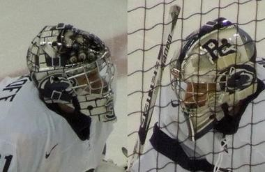 Here are the masks that Skoff and Musico wore last season: photo by Derek Meluzio