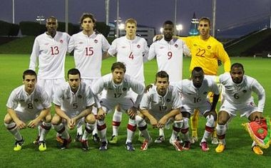 Chencinski before the start of the international friendly between Canada and Belarus.