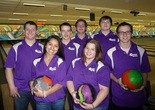 Members of the Northern High School Bowling Team, left to right: first row: Ashley Solorzano, Alexis Hess; second row: Weston Gricks, Elijah Carr, Josh Petersen; third Row: Dominic CioChetto and Darren Toomey.