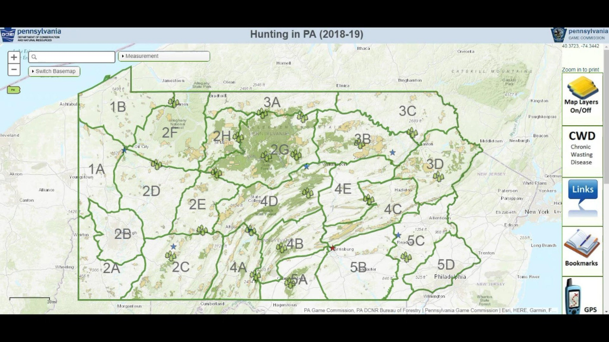 New interactive map for users of Pennsylvania\'s public lands ...