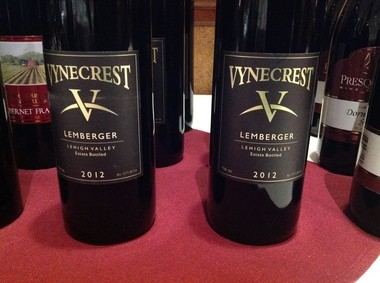 The wine is 75 percent Lemberger and a 25 percent mix of Cabernet Franc and Noiret.