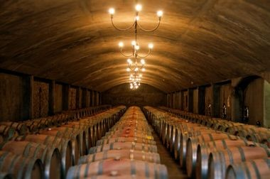 Underground storage at Domaine Bousquet Winery. Its premium wines include a Malbec, abernet and Sauvignon. It also makes a Reserve Merlot, Reserve Malbec and Reserve Cabernet Sauvignon, and a Grand Reserve Malbec and Grand Reserve Chardonnay. You can learn more on the winery's website.