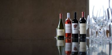 A lineup of a few of Domaine Bousquet wines. Among it most acclaimed is its Reserve Malbec.