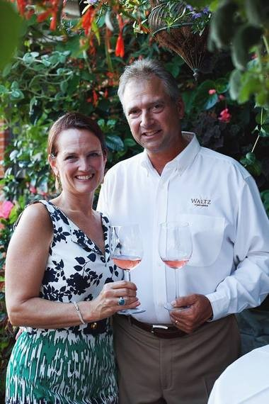 Kim and Jan Waltz, owners and operators of their namesake winery, in a picture taken in 2016.