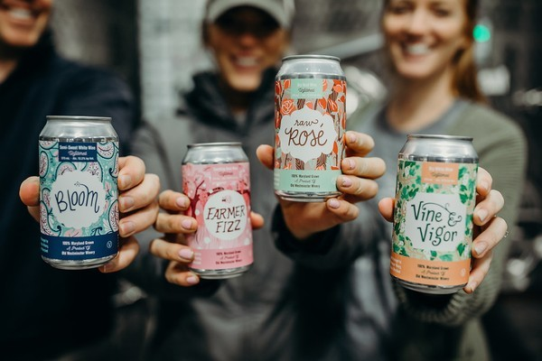 An Old Westminster winery promotional photo from this spring, touting several new releases of wine in a can.