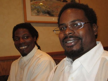 Ralph Williams, left, and his younger brother, Lee-Michael Dobson, both have retinitis pigmentosa.