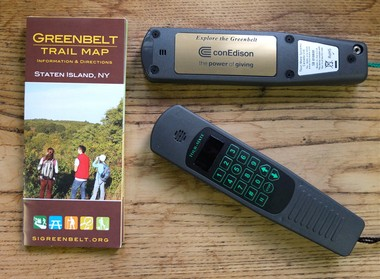 """The new Tour-Mate wands are """"suitable for children, school groups and people of all ages. I think people will find out things they didn't know. It'll just foster their interest in the Greenbelt even more,"""" says Dorothy Reilly, Greenbelt Conservancy spokeswoman."""