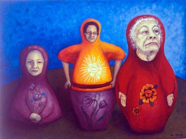 Arlette Cepeda's autobiographical artwork will be on display through Aug. 31. Photo Courtesy of Arlette Cepeda