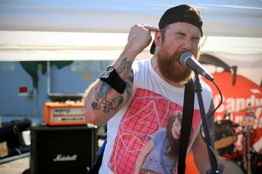 The pop punk band Jukebox Romantics performs at the Punk Island Music Festival on Saturday, June 21. (Staten Island Advance/Vincent Barone)