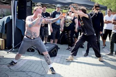Hardcore band Concrete Cross performs at Punk Island on Saturday, June 21. (Staten Island Advance/Vincent Barone)