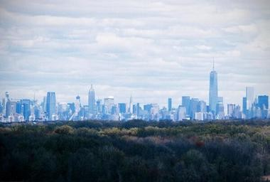 The view of Manhattan's skyline from Freshkills Park. The Parks Department will be opening sections of the park in phases over the next decade. (Staten Island Advance/Vincent Barone)