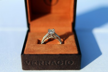 At Thursday's Race for the Ring contest, organized by Casale's Jewelers at the Hilton Garden Inn, seven couples were competing for a Verragio style D-114 diamond engagement ring from the Parisian Collection valued at $10,000. (Staten Island Advance/Vincent Barone)
