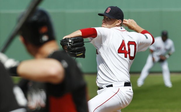 42d2818a836 Andrew Bailey pitches for the Boston Red Sox during a 2012 spring training  game. The