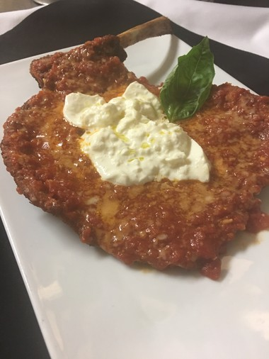 Veal parmigiana served Angelina Kitchen-style. (Courtesy of Vincent Malerba)