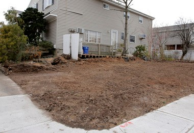 After Cee-Jay Real Estate Development Corp. bought the land, the parcel was cleared of all foliage.