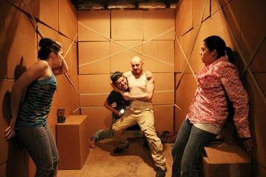 "A scene from ""La Ruta,"" a co-production of off-Broadway's Working Theater and the Magnum Foundation."