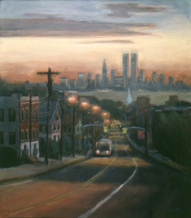 """ABOVE: """"Victory Boulevard at Dawn,"""" circa 1986. WATCH IT: Check out the creation of Sarah Yuster's new painting, """"Victory Boulevard at Dusk,"""" in an 87-second video at Vimeo.com. For more about the artist, visit SarahYuster.com."""