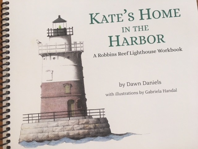 """Kate's Home in the Harbor"" is up currently at the Noble, which just published a companion 40-page workbook about the keeper and her lighthouse."