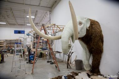The Mastodon that will greet Staten Island Museum visitors was created by Blue Rhino Studios. The studios documented the creature's fabrication on July 16, 2015. (Courtesy Blue Rhino Studios)