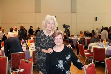 From left, Sue Sappin, honored in 2014 stands with Linda Brill, honored in 2013 by the JCC. (Courtesy/JCC)