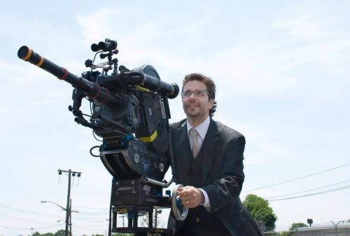 "Filmmaker James DeMonaco, the mastermind behind ""The Purge"" film series, in action."