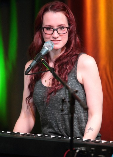 Singer-songwriter Ingrid Michaelson visits radio station Mix 106 Performance Theater, Thursday, March 27, 2014, in Philadelphia. (Photo by Owen Sweeney/Invision/AP)