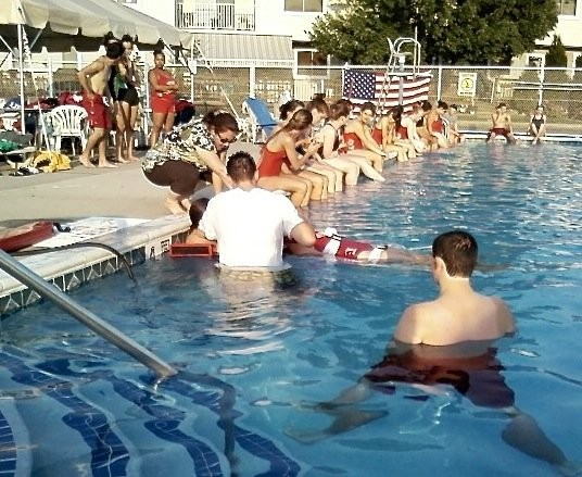d4e608b70fcc Lifeguard certifications are valid for two years with a refresher course in  CPR AED required by the city Department of Health. Lifeguards learn a  number of ...