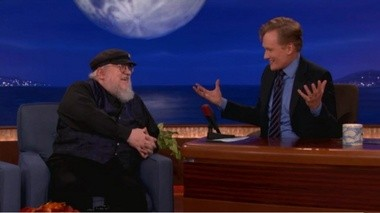 """Prior to the Season 3 finale, """"Game of Thrones"""" creator George R.R. Martin, left, talks to Conan O'Brien about growing up in Bayonne, N.J., and wondering what """"exotic mysteries"""" were across the Kill van Kull on Staten Island."""