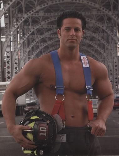 "Frank flexes for the 2005 NYFD ""Calendar of Heroes."""