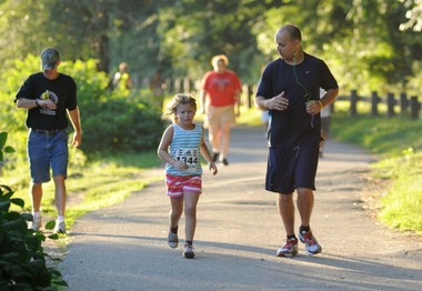 Walking or running in the park provides relaxation along with cardio-vascular exercise.