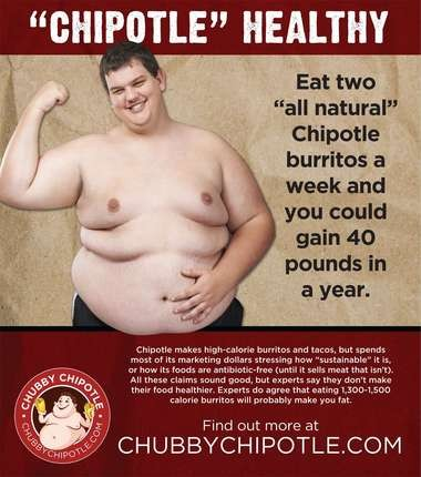 The new ad campaign launched by ChubbyChipotle.com.