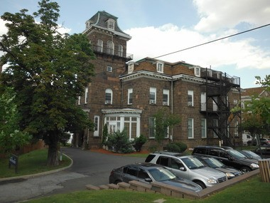 The Garner Mansion, the Second Empire-styled brownstone on the grounds of Richmond University Medical Center, was built by a cotton king from the South.
