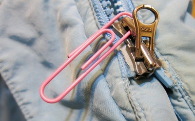 When a zipper gets stuck, a garment, bag or tent is useless. Before you toss it, try to fix it. (Staten Island Advance/Kathryn Carse)