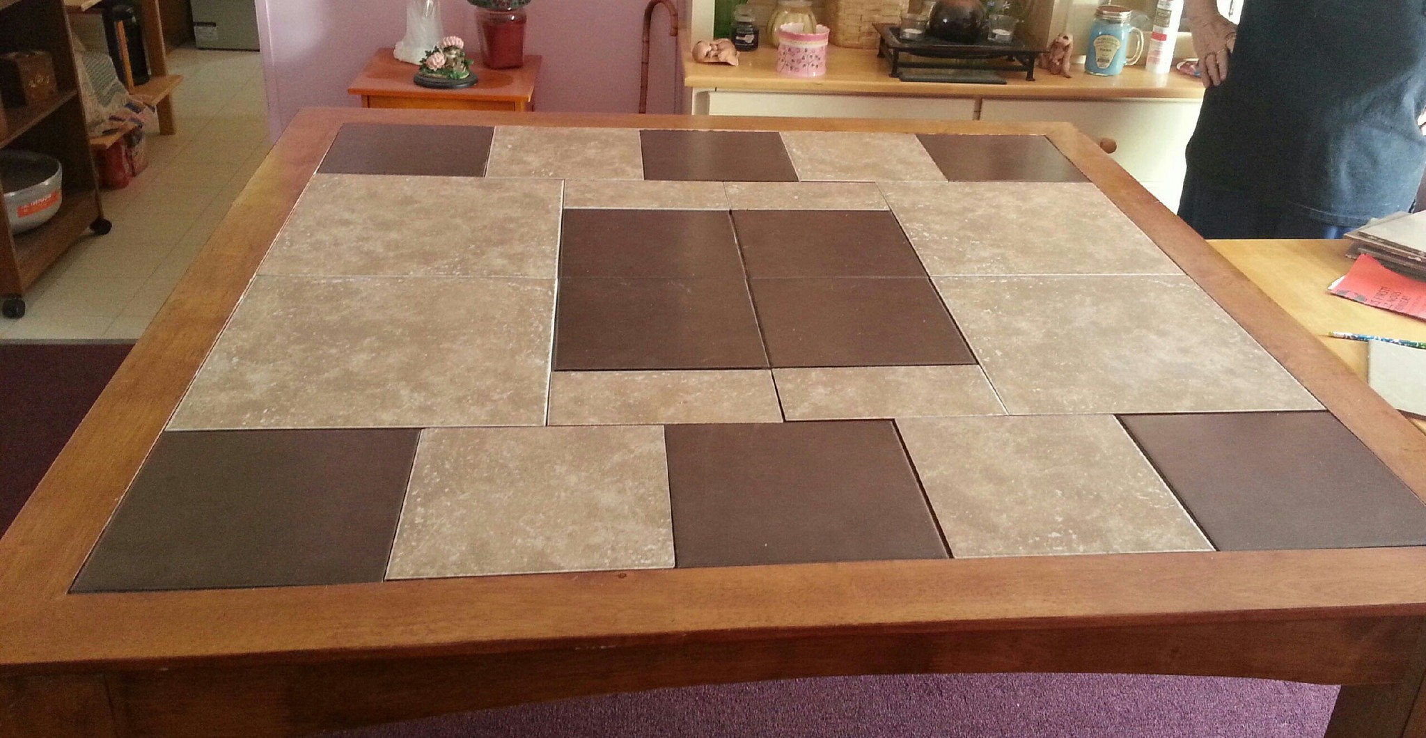 Ceramic Tile And Wood Play Well Together In A Tabletop Silive Com