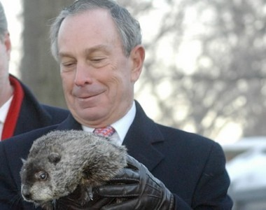 Mayor Bloomberg meets Chuck during the 2009 festivities.