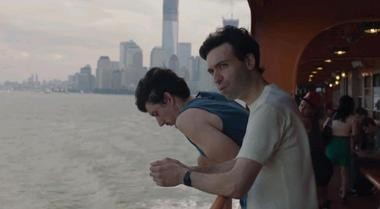 """The characters Adam and Ray are shown riding a Staten Island ferryboat in HBO's """"Girls."""""""