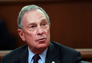Mayor Michael Bloomberg tried his hand at poetry for Poem In Your Pocket Day.