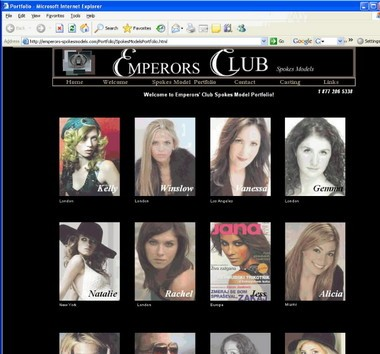 The website of the Emperors Club, infamous for its connection to the sex scandal involving former Gov. Eliot Spitzer, was taken offline shortly after news of the governor's indiscretions broke.