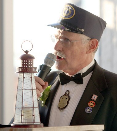 Emcee Jack Vokral gets the ball rolling at Wednesday's Light Keeper's Gala Reception.