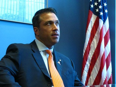 """""""The president has changed his red line to the world's red line, he showed his hand when he should have kept it close, he failed to gain the support of key allies, and continues to delay action indefinitely until Congress acts,"""" Rep. Michael Grimm said."""