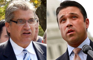 City Councilman Domenic Recchia, left, is looking to challenge Rep. Michael Grimm in next year's midterm elections.