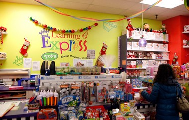 The counter is pictured at Learning Express in Charleston, as the toy store will be participating in Small Business Saturday on Staten Island.