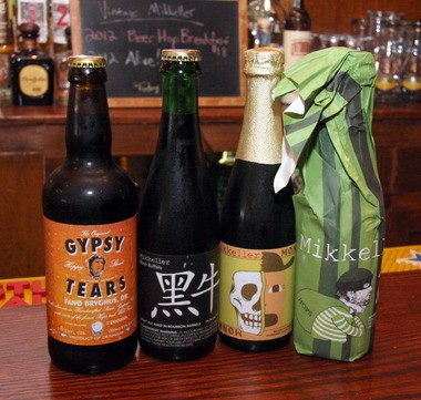 A small sample of the restaurant's beers from May 2013.