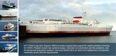 Elliott Bay Design has worked on ferryboats for public transportation departments around the country. (Screen grab from the EBDG website)