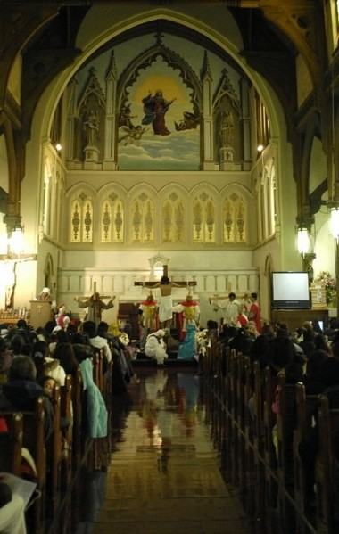 Interior of St. Mary of the Assumption Church on Richmond Terrace in Port Richmond. (Staten Island Advance/Bill Lyons)